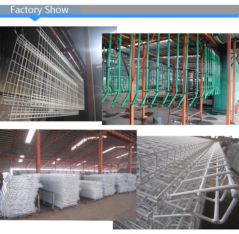 Projeto da cerca de ferro galvanizado Postes de metal fábrica