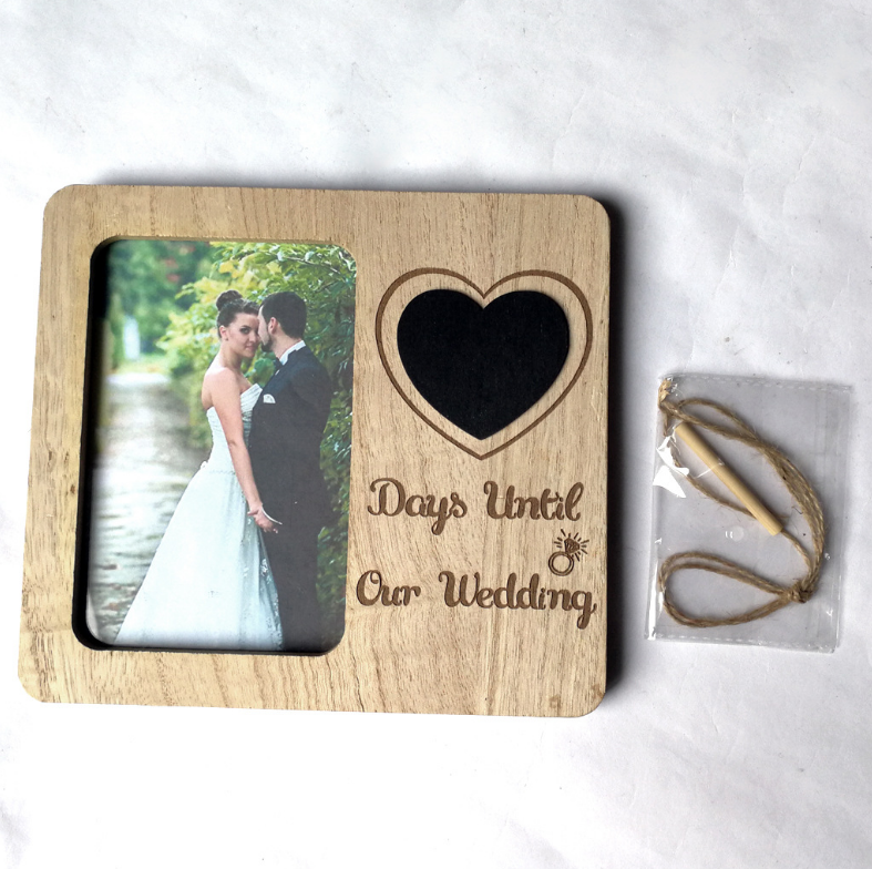 Wooden country retro wedding souvenirs countdown love blackboard photo frame