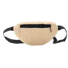 Aelicy модная плюшевая Женская поясная сумка, зимняя поясная сумка для телефона, нагрудная сумка с двойной молнией 1220(Китай)