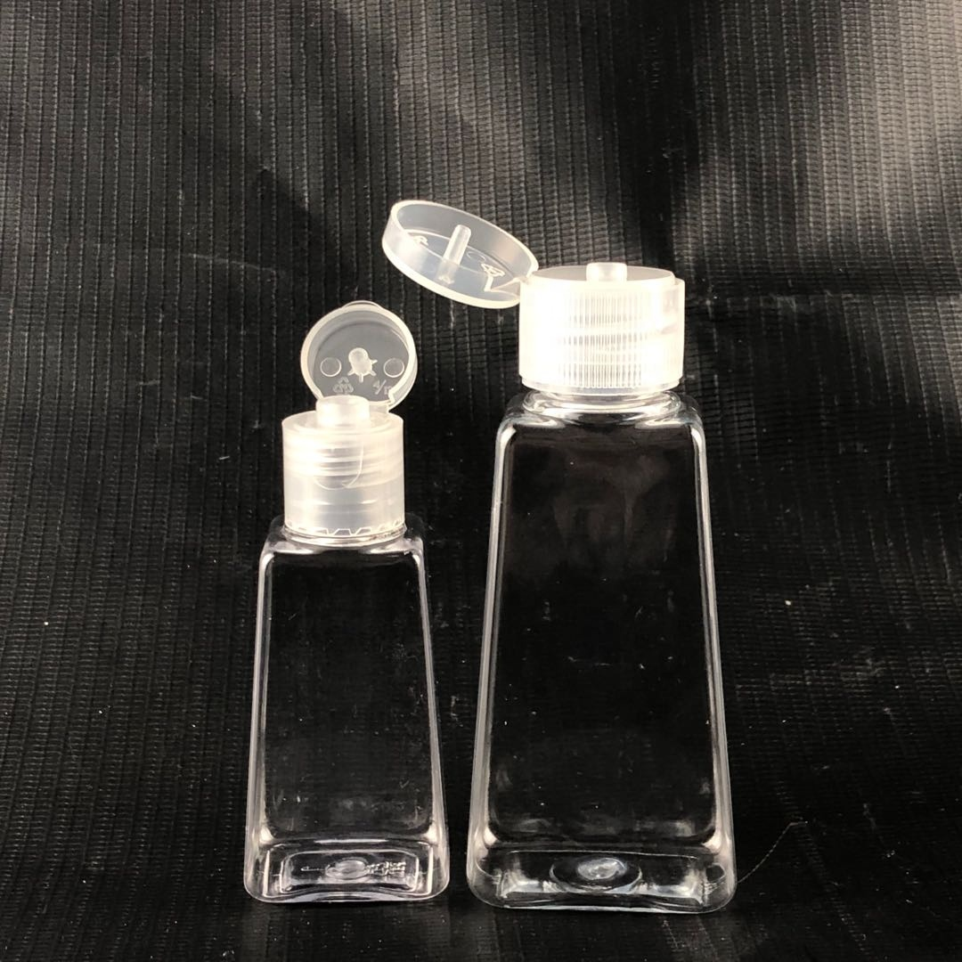 Factory price 1 oz 30ml 60ml empty plastic portable hand sanitizer bottle