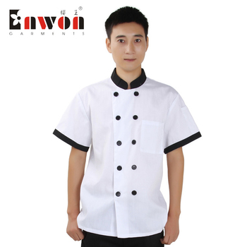 Ready to ship classical Poly Cotton Cheap short sleeve Chefs Hotel Uniform