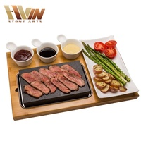 Restaurant Barbecue Basalt Steak Stone For Cooking,Hot Plate And Grill Basalt Cooking Lava Stone