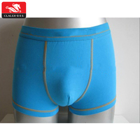 Custom newest fashion spandex cotton teen young underwear solid color boys boxers shorts