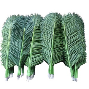 outdoor indoor artificial plastic decorative high flame resistance coconut palm tree branches and leaves