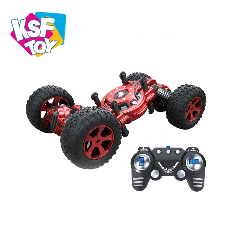 2.4G Fleksibel Stunt Double Sisi Teleskopik Twist RC Mobil Drift 1:10 dengan Bigfoot