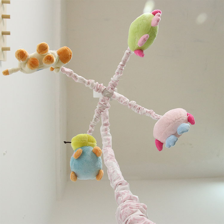 OEM Colorful infant owl stuffed animal bird plush baby musical hanging toys crib mobile infant toys
