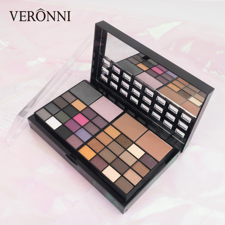 Waterproof Makeup Kits wholesale 74 Color Palette 48 Eyeshadow + 16 Lip Gloss +3 Blush +4 Concealer +3 Contour Make up Set