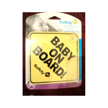 baby on board window safety yellow car sign decal (M-CS055)