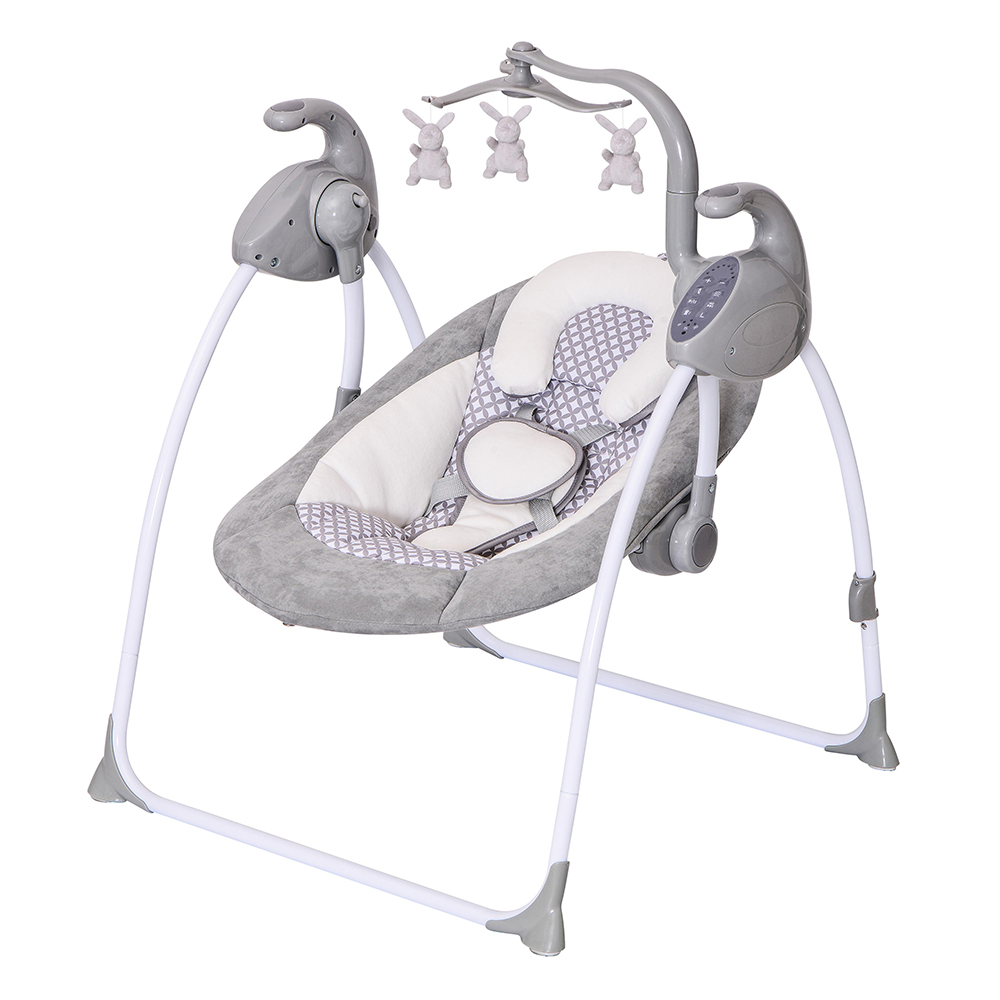 Electric automatic designs baby rocking cradle manufacturer baby chair multi-function baby swing rocker with magic light show