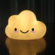 Creative cute expression cloud Shape night nights lamp PVC LED kids baby nursery Night Light with battery power 1w