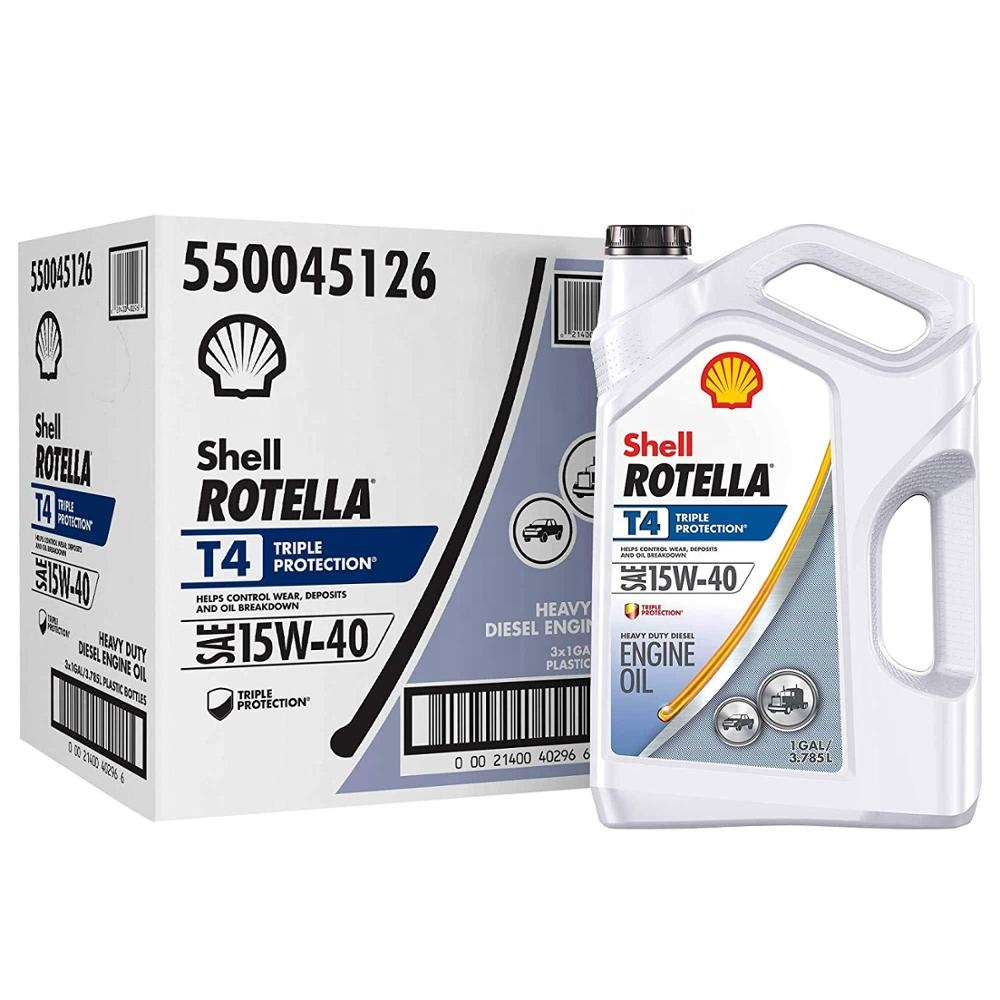 SHELL Rotella T4 Triple Protection 15W-40 Diesel engine oil, 1 Gal ( Pack of 3)