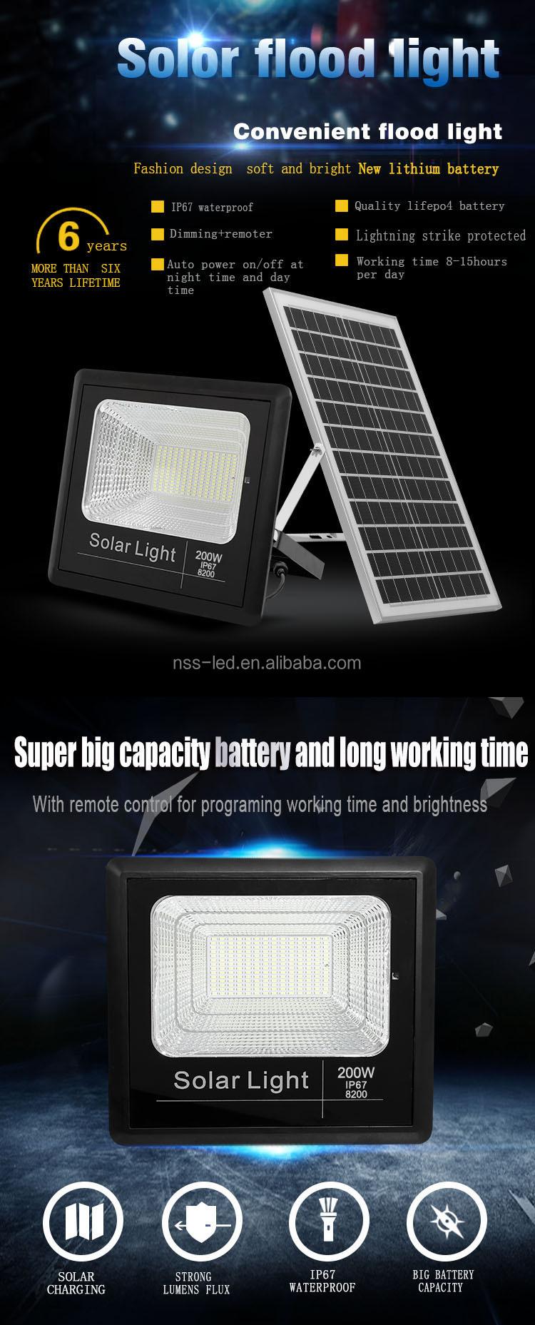 SL27-A100w очень хорошая цена IP67 водонепроницаемый 100 Вт светодиодный Солнечный сад настенный светильник солнечный датчик настенный свет для садового парка использование