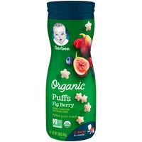 Gerber Organic Puffs Fig Berry, 1.48 oz
