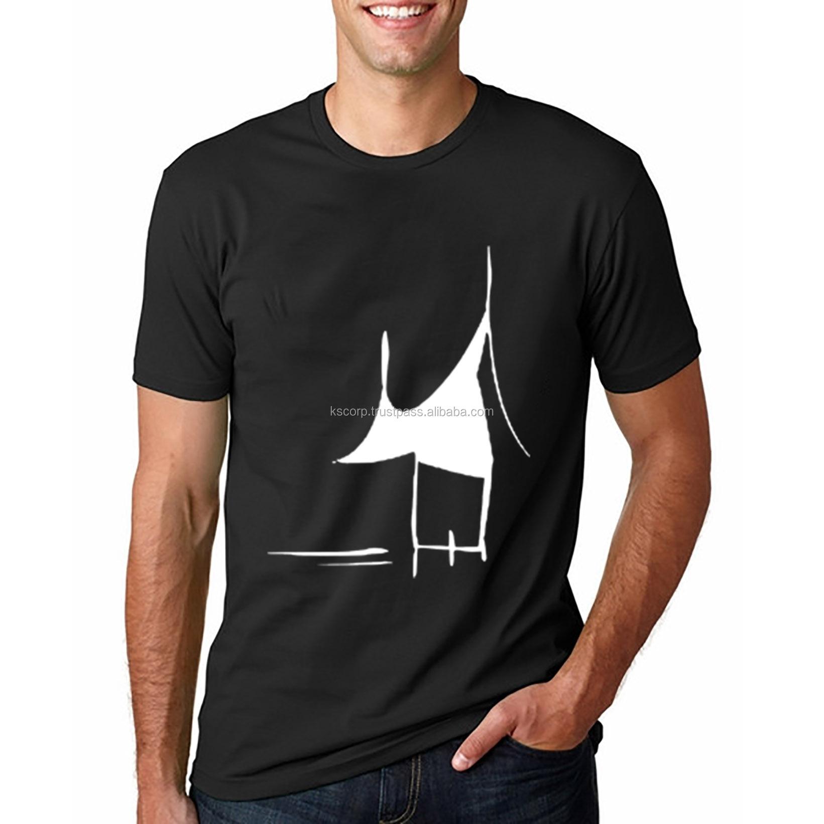 GS504 Logo Kustom Cetak Layar T-shirt Kualitas Terbaik Pria