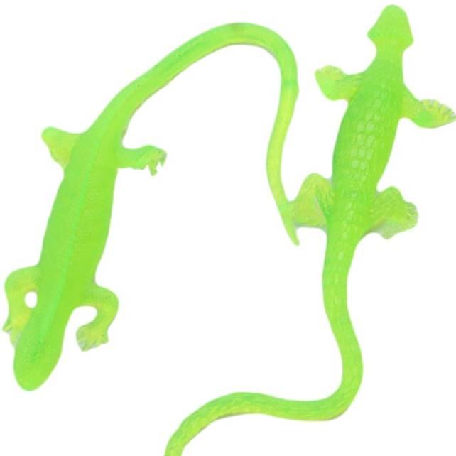Crazy Fun Sticky Lizard Toy TPR Vinyl Stretchy Lizard Toy For Kids