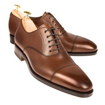 Cap Toe Brown Oxford Shoes,Men Genuine