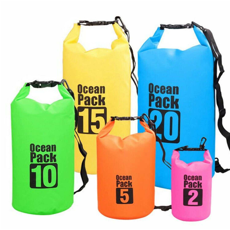 Floating Waterproof Dry Bag 10L//20L//30L Roll Top Dry Sack Keeps Gear Dry Bags