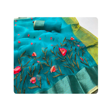 Commercio all'ingrosso Puro <span class=keywords><strong>Georgette</strong></span> Chikankari Saree