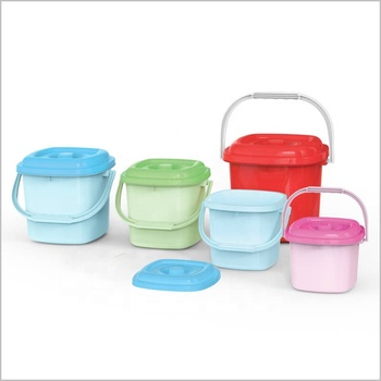 High quality plastic bucket with lid with handle from Vietnam