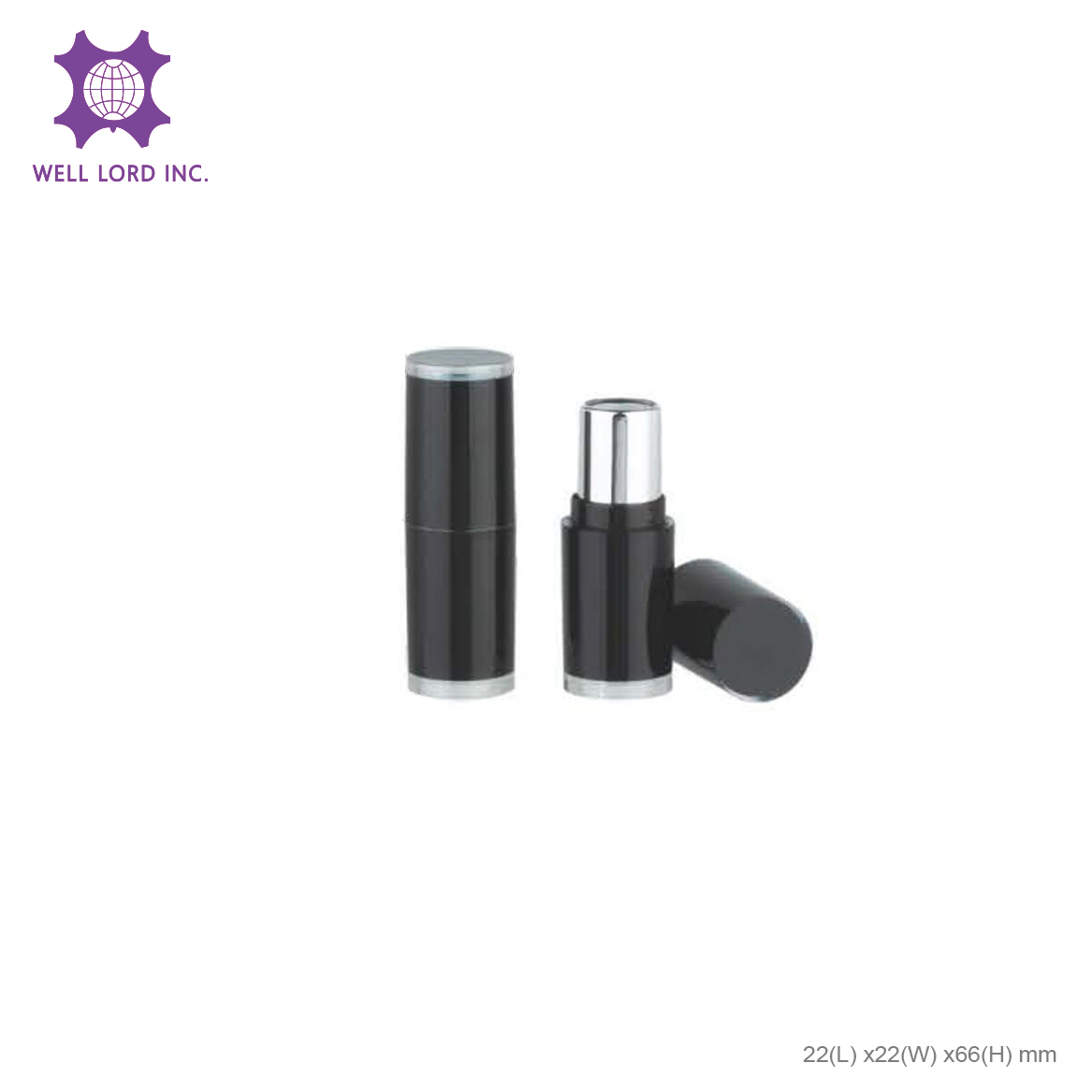 Ultimate clear case screw cap private label empty lipstick case wholesale