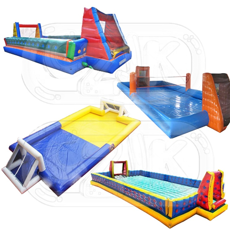 new cheap pvc custom blow up inflatable football soccer pitch field court