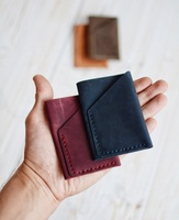 Minimalist Leather Credit Card Holder Credit Case Slim Credit Sleeve Mini Wallet LWT-0063