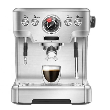 20 Bars Italian Ulka Pump Espresso Coffee Maker with Aluminum Alloy Body High Performance
