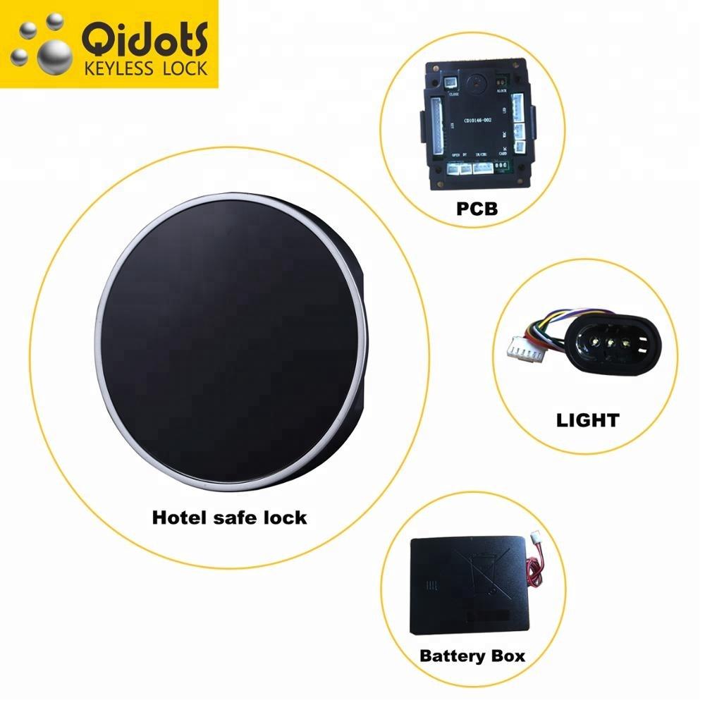 Qidots цифровая клавиатура безопасный замок для гостиницы Сейф с моторизованным Механизмом Блокировки системы