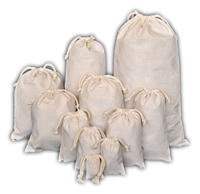 "12"" x 16"" inch Flour bags Eco Friendly , Washable Organic Cotton Double Drawstring bags , Reusable Packaging bags"