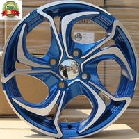 Hot design mag wheels for car 14 15 16 inch 2020 style red blue black machine face jwl via wheels tyres for vehicles accessories