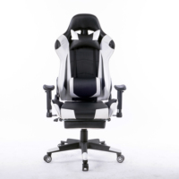 8204-comfortable gaming chair with massage and footrest