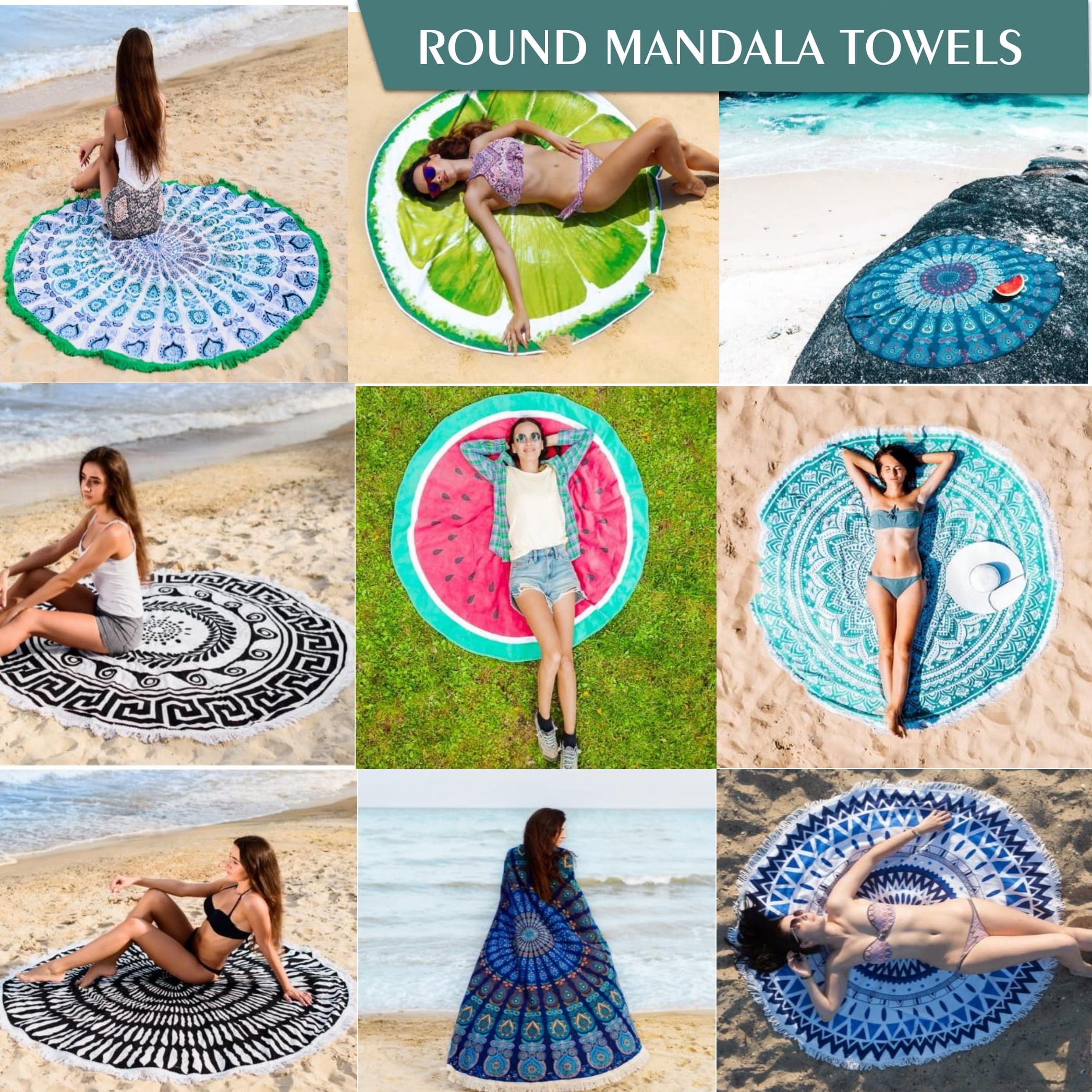 Custom Beach Towel Round