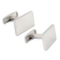 925 Sterling silver suit shirts wholesale blank cufflinks for men