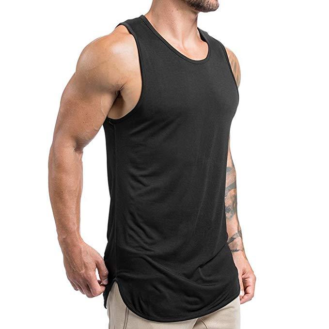 Men/'s Sleeveless Stringer Y Back Bodybuilding Gym Tank Tops Muscle Vest Top Tee
