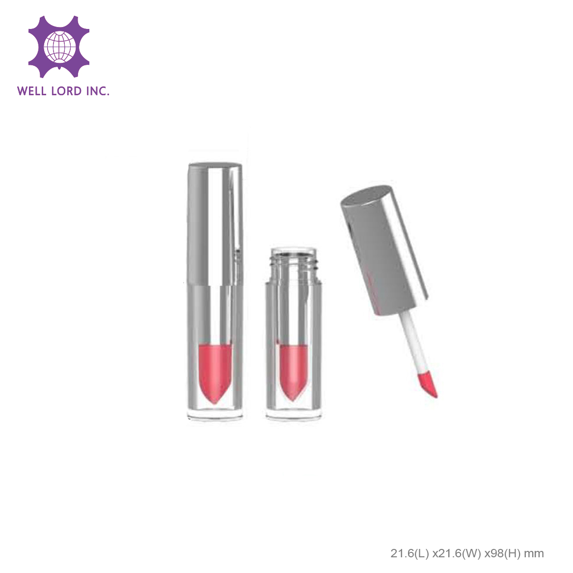 Silver cap lid screw cap lipstick case lip tint container beauty sex tube lip gloss