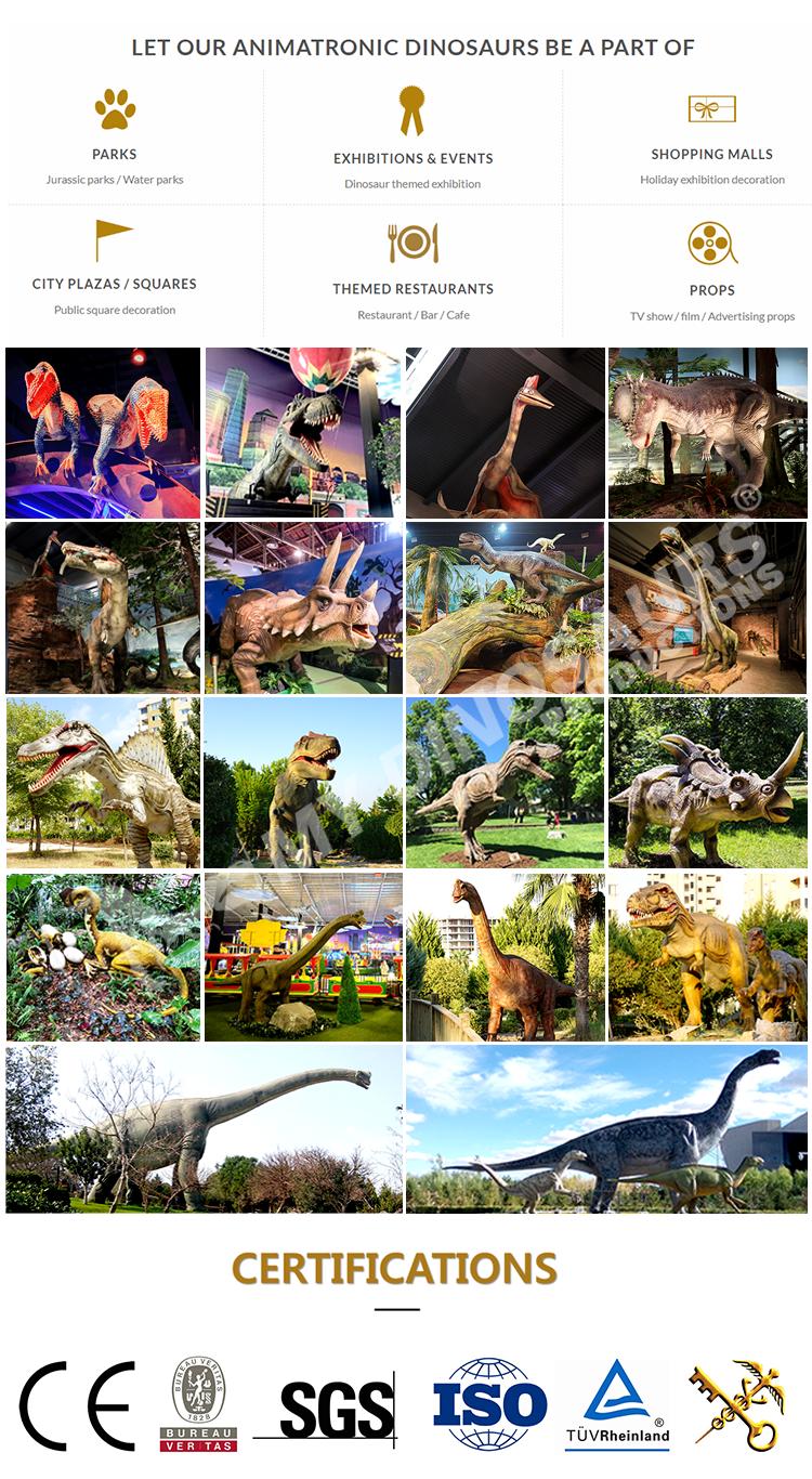 MY Dino Q016 Hot Sale Backyard Animatronic Dinosaur for Sale