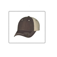 Premium Quality Manufacturer of Brown & Beige Trucker Cotton Cap For Outdoor/Travel Purpose.