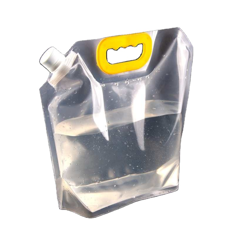 Low price filled Recyclable water bag proof clear with spout top