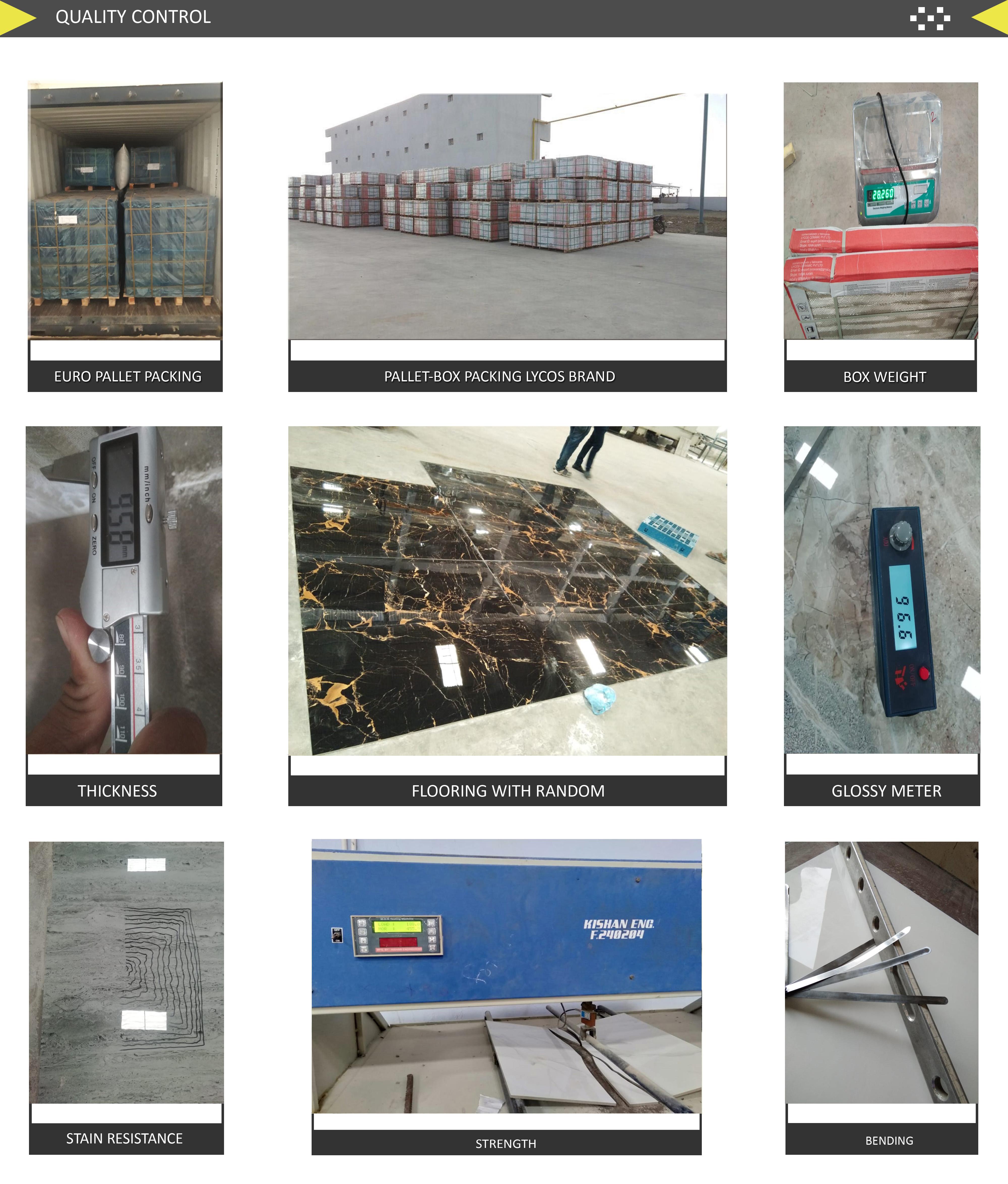 Indio Porcleian piso azulejos 3-6% agua Abasoption
