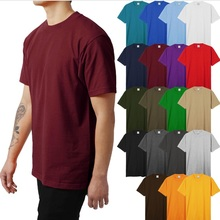 Männer Super Max T Shirts Schwergewicht Tough Crew Neck Solide Kurzarm Casual Aktive Tee