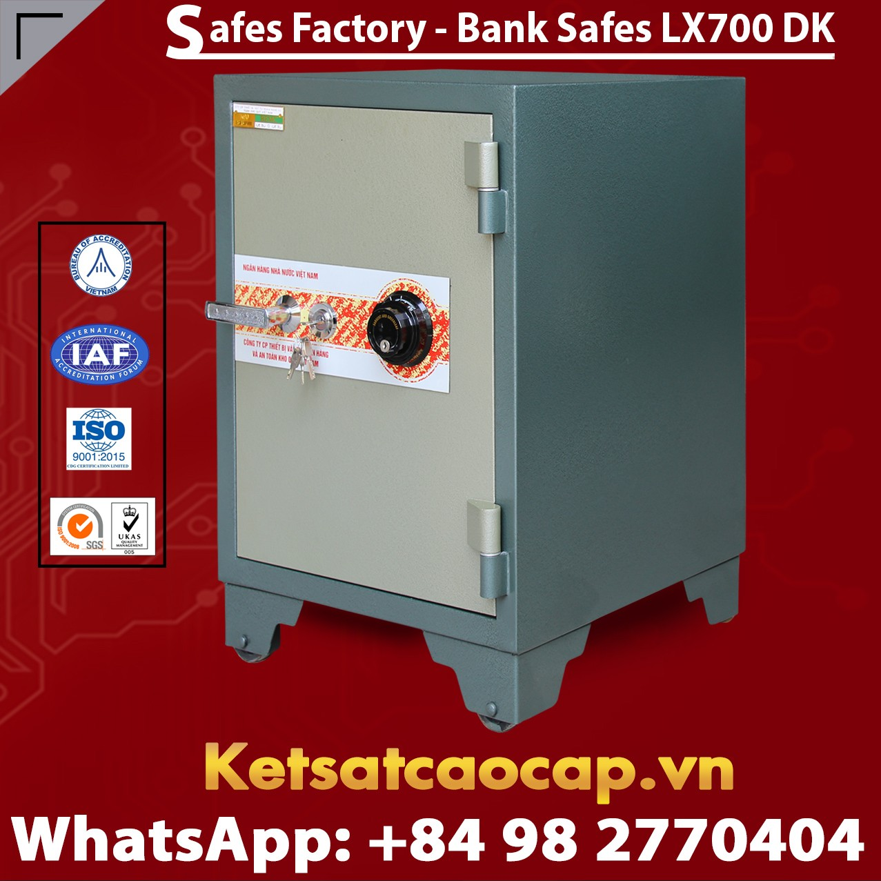 Bank Safes LX700 DK Luxurious Design High Quality Secure Bank Safe Box