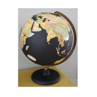 Metal Globe map of the world Black Coated
