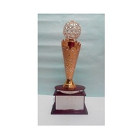 Aluminium And Crystal Decorative Trophy