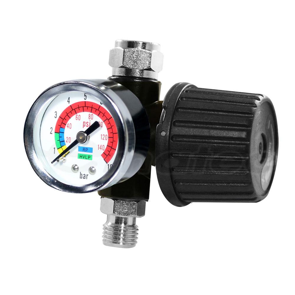 "Air Pressure Diaphragm Regulator For Spray Paint Gun Air Tools Compressor 1/4"" LEMATEC Air Accessory Gauge"