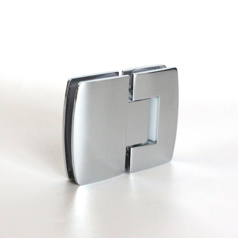 Stainless steel 180 degree round angle camber bathroom clamp glass shower door hinges
