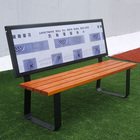 New design public garden wood steel advertising bench,outside park 3 seater bench seating,airport street commercial long chair