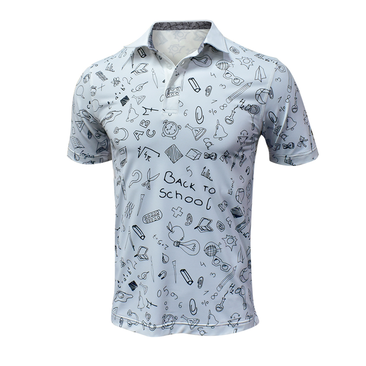 Wholesale manufacture Amazon best selling golf T-shirts custom Polo printed t-shirts