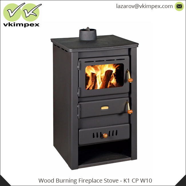 Efficient Wood Burning Fireplace Stove K2 Cp W10 With Water Jacket