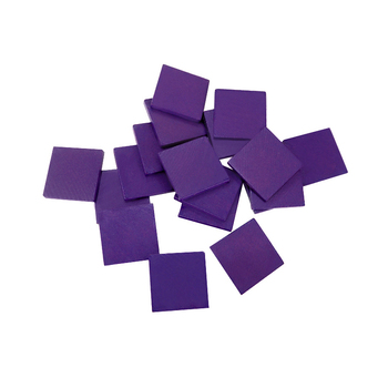 20x20x3.5 mm blank purple color wooden piece wooden block natural wood toy wooden toys educational