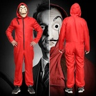 Money Heist The House of Paper La Casa De Papel Cosplay Costume for Men Women Kids Salvador Dali mask Halloween Carnival Costume